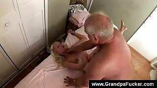 Defeated blonde GF enjoys a hard cock - duration 6:12