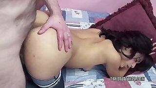 Pierced redhead teen using dildo on webcam - duration 6:32