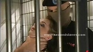Big tits blonde turned into a real slave compartue - duration 4:20
