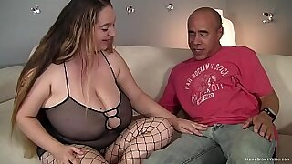 Hawt brunette with big tits rides her fat cock - duration 10:18
