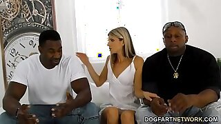 Ebony gf cleans office with her long cock - duration 8:24