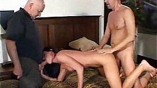 Swinger big booty brunette milf fucked by old man - duration 30:47