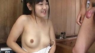 Koyuki Ono brunette bimbo blows big cock like an angel - duration 12:00