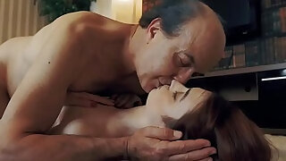 Opa xxx - Innocent Teen Swallows and Spits cum after Romantic Sex with Grandpa