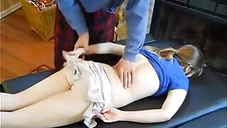 Dad massage daughter and fucked her - duration 30:00