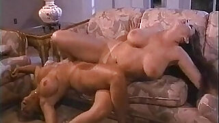 Blonde and brunette and blonde lesbians suck and rub pussies together on More - duration 8:00
