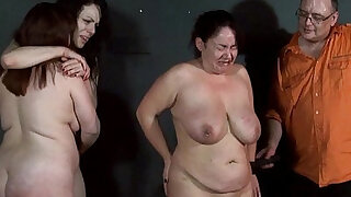 Three slavegirls whipping and extreme punishment to tears of amateur slavesluts - duration 5:00