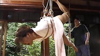 Asian girl in kimono tied up and bdsm seanced - duration 8:00