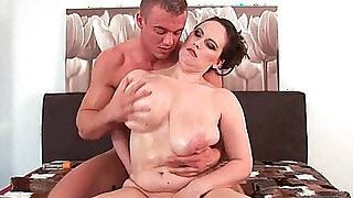 Willing moms love cum on their tits and face - duration 14:00