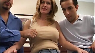 Double penetration with busty wife - duration 39:00