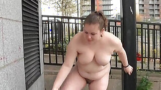 Fat Charlie nude in public and exhibitionism - duration 5:00
