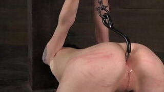 Anal hooked submissive being punished - duration 5:00