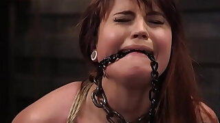 Gagged slave in rope bondage got rough fucked - duration 5:00