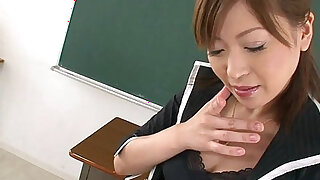 Sexy Japanese Teacher Pleasing Herself In The Classroom - duration 16:00