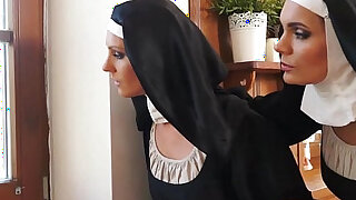 Catholic nuns and the monster! Crazy monster and vaginas! - duration 16:00
