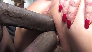 Janet Mason makes her son watch as she fucks a big black cock - duration 5:00