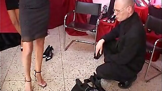 Celia Jones threesome in the shoe shop with J.B. - duration 28:00