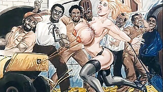 Slaves in bondage bdsm cartoon art - duration 5:00