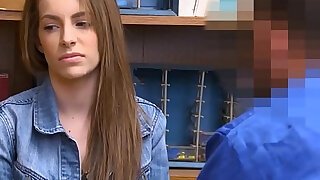 Hot Tiny Teen Shoplifter Punished By Security - duration 8:00
