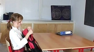 Sian And Hery barely legal teens sex in school classroom - duration 24:00