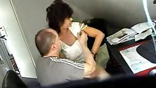 Video from hidden cam mature gets fucked hard at office table - duration 7:00
