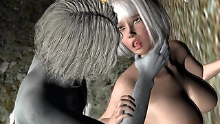 Sexy 3D cartoon babe getting fuckced by a zombie - duration 5:00