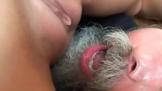 Teen gets anal banged by grandpa - duration 8:00