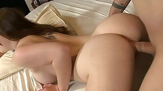 Luxurious chick Natalie Moore takes black dick inside wide wet cunt - duration 15:00