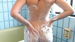 Hot sweet boobs Asian takes a sexy shower - duration 8:00