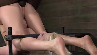BDSM sub fucked on punishment bench - duration 6:00