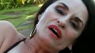 Granny Fingering Her Pussy Outdoors - duration 12:00