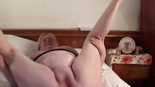 Lucky excited mature in stockings gets fat pussy fucked - duration 5:00