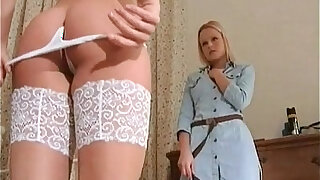 Two hot lesbian babes exploring each - duration 10:00
