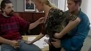 German threesome in office - duration 16:00