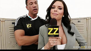 Busty sports journalist veronica avluv gang banged in locker room - duration 7:00