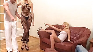 sexy blondes and big cocks enjoying a foursome MG - duration 44:00