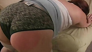 Spanking the Bad BBW Amateur - duration 13:00