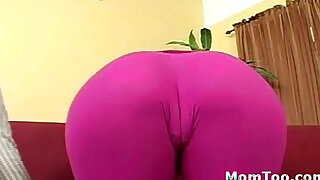 Busty brunette mom and thick inexperienced daughter get naked together - duration 7:00