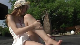 Horny Diamond and Rihanna ride Roccos shaft in nasty outdoor threesome - duration 5:00