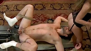 Extreme fantasy of girl bound and double penetrated - duration 5:00