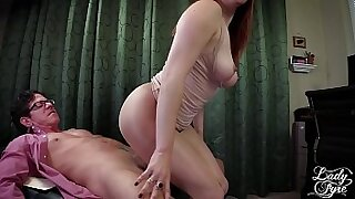 Big muscle male boss banged hard on femdom tit cunt - duration 17:23