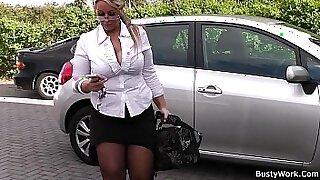 Chubby Blonde Nympho Spreads Legs - duration 6:42