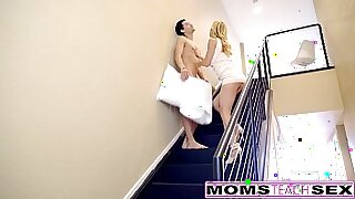 milf giving hot cream pie to sons exercise session - duration 12:55