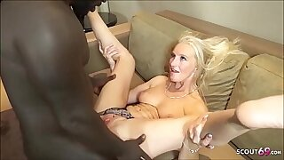 German honey sucks and fucks with interracial creams shots - duration 8:48