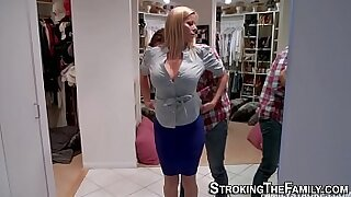 Busty Blowjob From His MILF Fave - duration 8:36